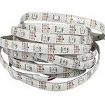 RGB LED Strip SMD5050, WS2812B (white, with controls, IP65, 5 V, 30 LEDs/m, 5 m)