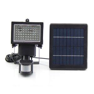 Вуличний LED прожектор SL-60 (з сонячною панеллю, з сенсором руху, 600 лм, 7,4 В, 2000 мАг)
