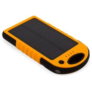 Зарядное устройство на солнечных батареях 12000 мАч (2×USB, IP65, оранжевый)