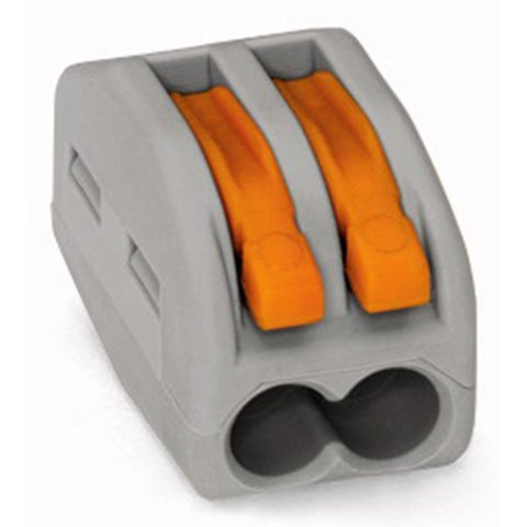 Прямий 2 контактний конектор для з'єднання проводів 250 В 30 А