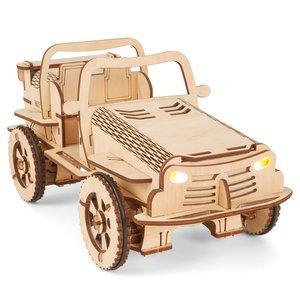 Деревянный конструктор EcoBot автомобиль Багги с Bluetooth управлением